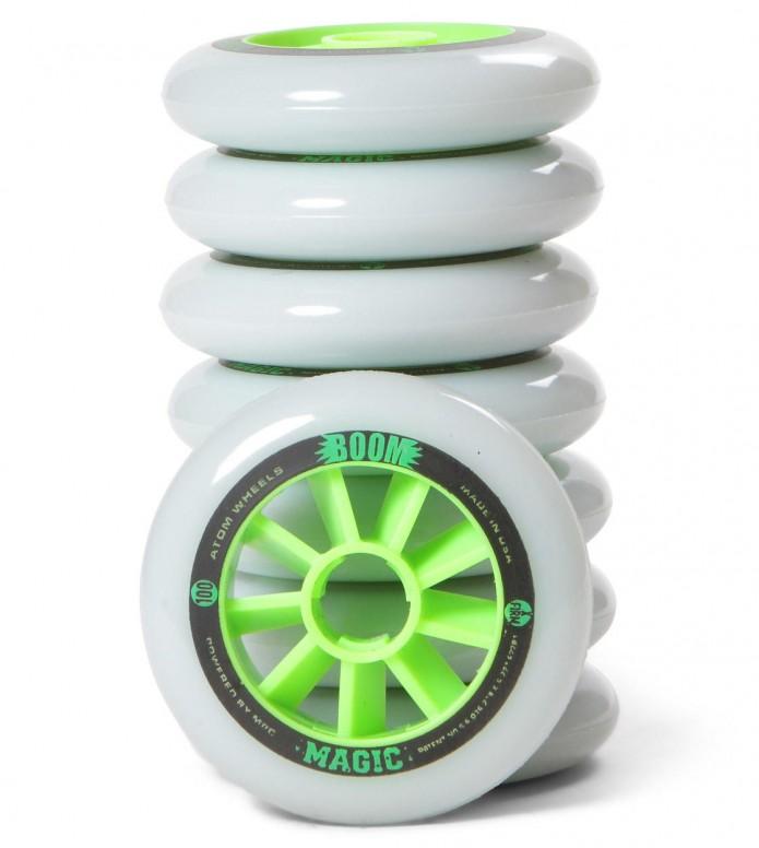 Atom Wheels BOOM Magic X Firm 100er white/green 100mm/86A