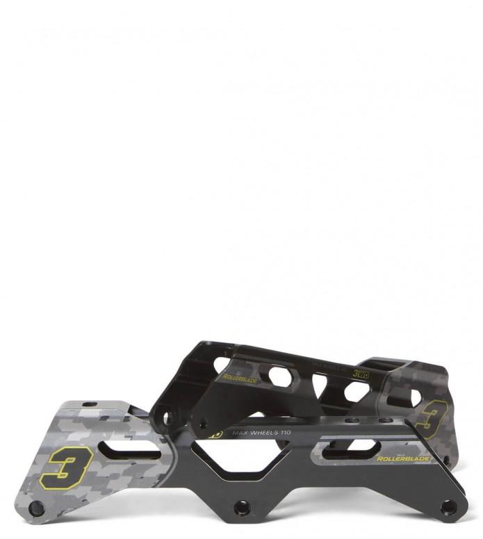 Powerslide Frames Complete Speed 12.0 black 125mm