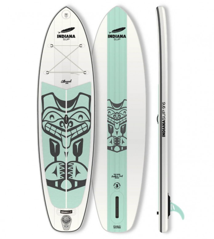 Indiana SUP Indiana SUP 9`6 Allround LITE Pack white/aqua
