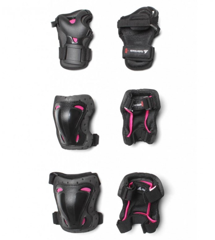 Rollerblade W Protection Skate Gear 3 Pack black/pink