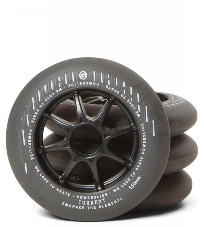 Powerslide Wheels Rain Torrent 110er 4-Pack black 110mm/84A