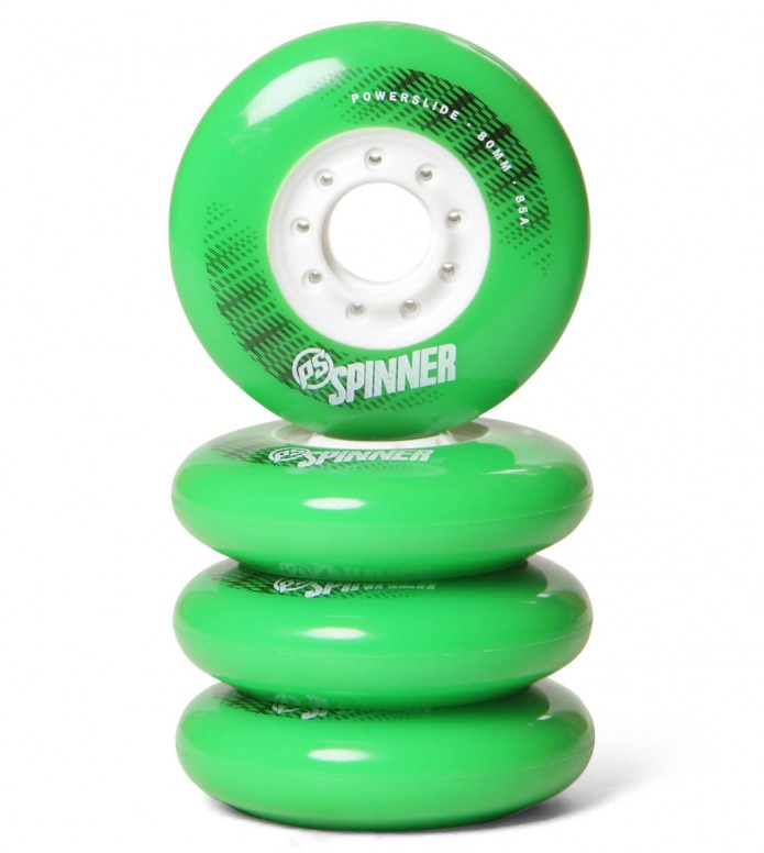 Powerslide Wheels Spinner 80er green 80mm/85a
