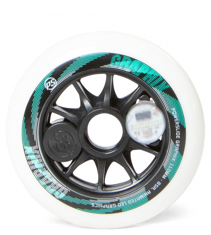 Powerslide Wheel Graphix Left 110er white 110mm