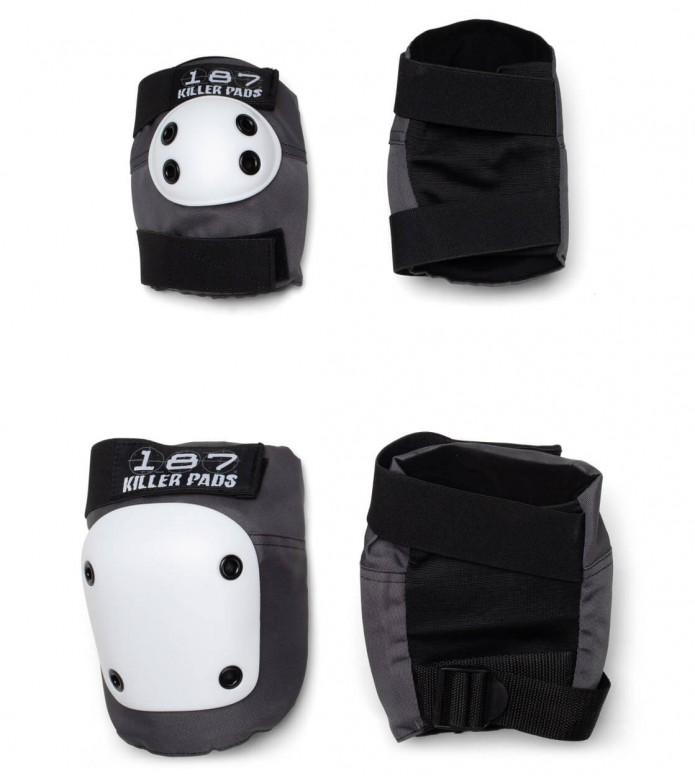 187 Killer Pads Combo Pack white/grey XS