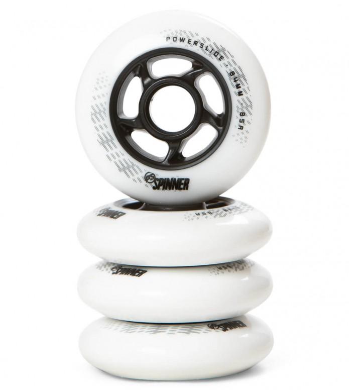 Powerslide Wheels Spinner 84er white 84mm/85A