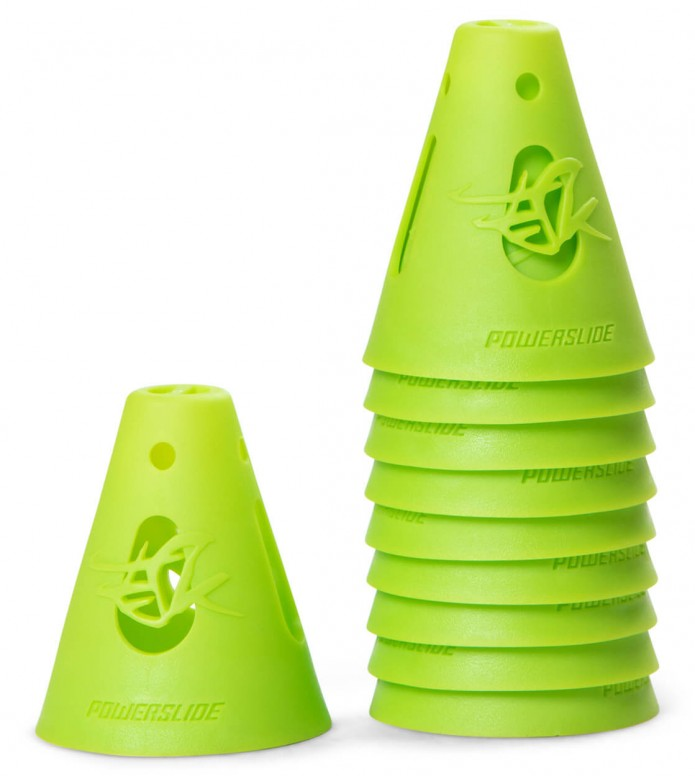 Powerslide Cones 10-Pack green 80 x 65mm