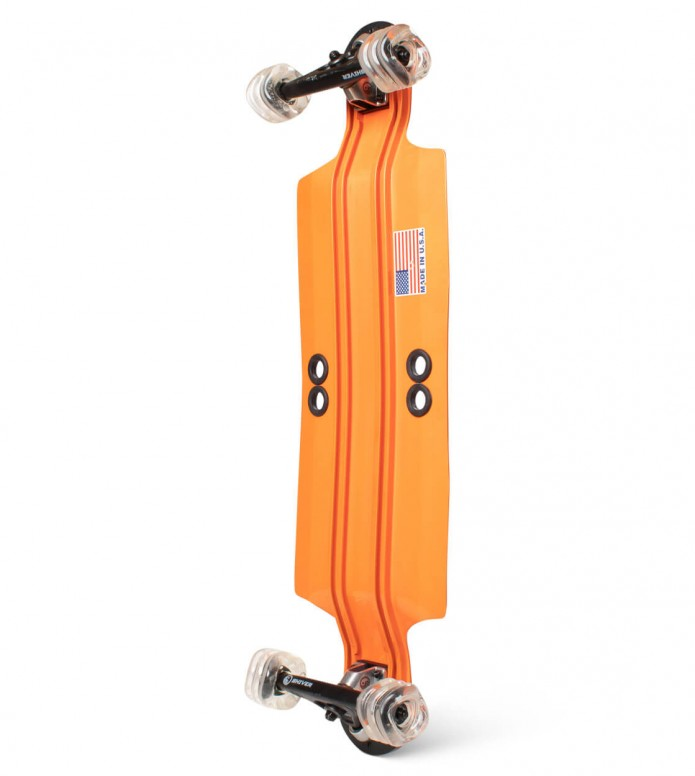 Shiver Shiver Longboard Shark Aluminium orange
