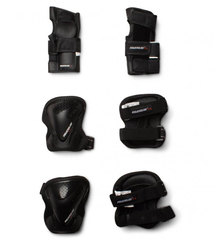 Powerslide Protection One BasicTri-Pack black S