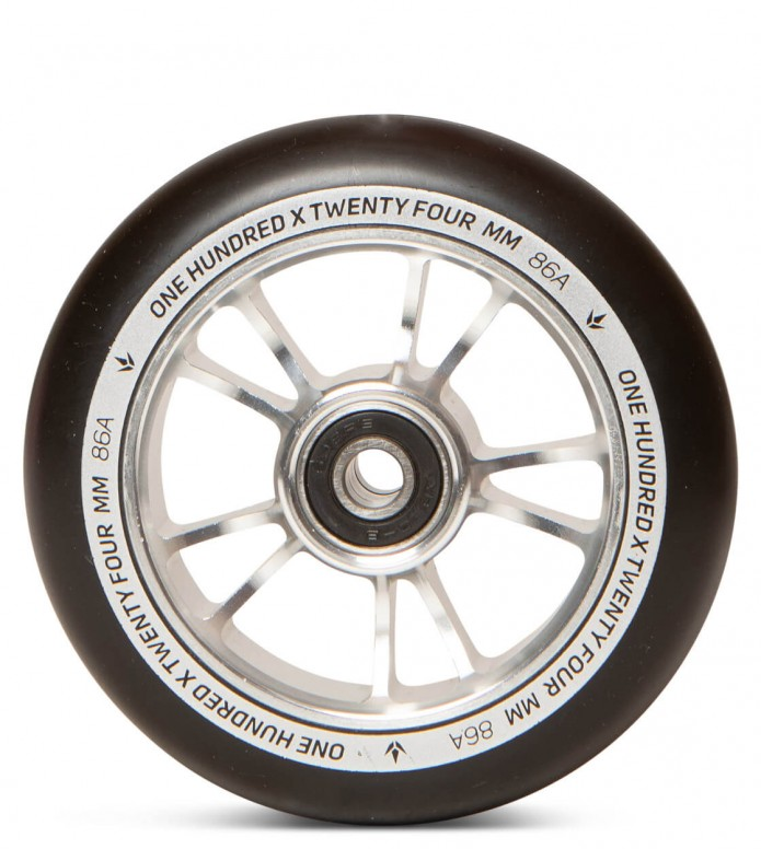 Blunt Wheel 10 Spokes 100er silver/black 100mm