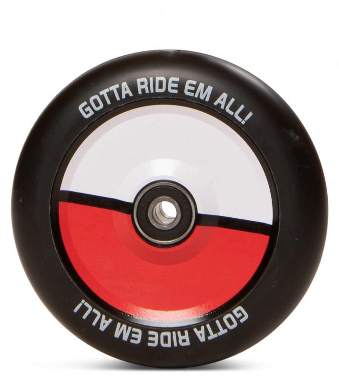 Infinity Wheel Pokeball Go 110er red/black 110mm 88A