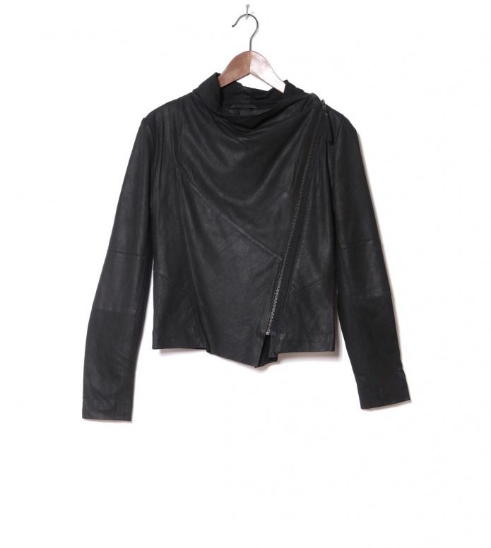 MbyM W Leatherjacket Valentine black XS