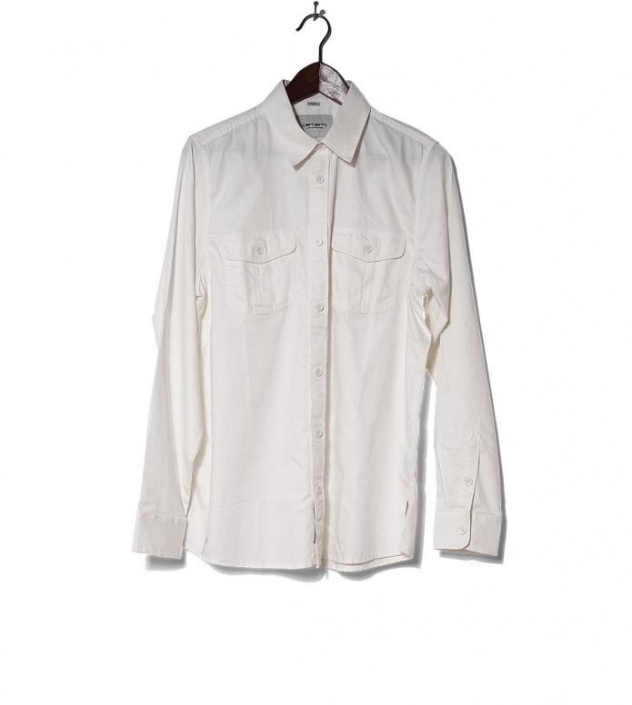 Carhartt WIP Shirt Robbins white wax M