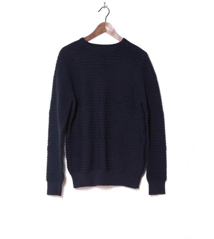 Revolution Knit Pullover 6418 Pattern blue navy XL