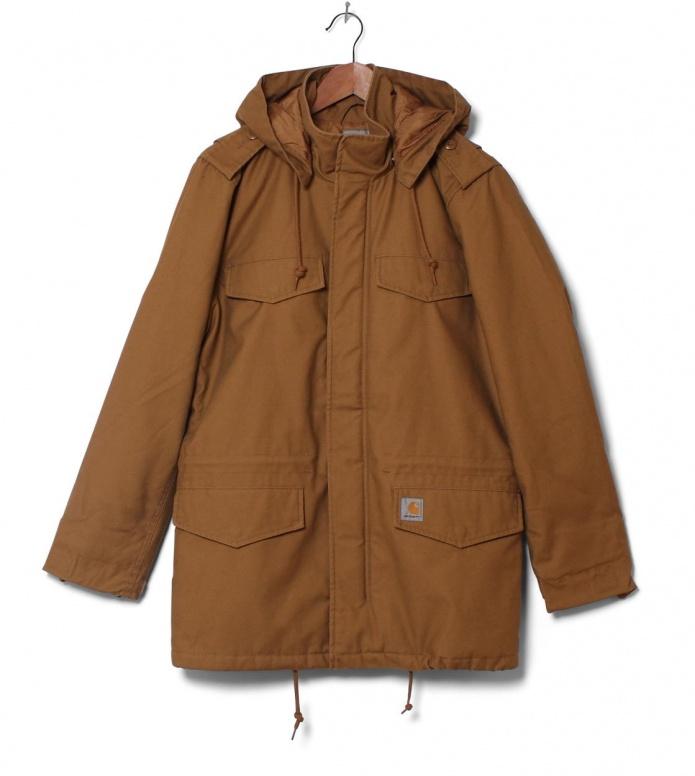 Carhartt WIP Winterjacket Hickman Coat brown hamilton S