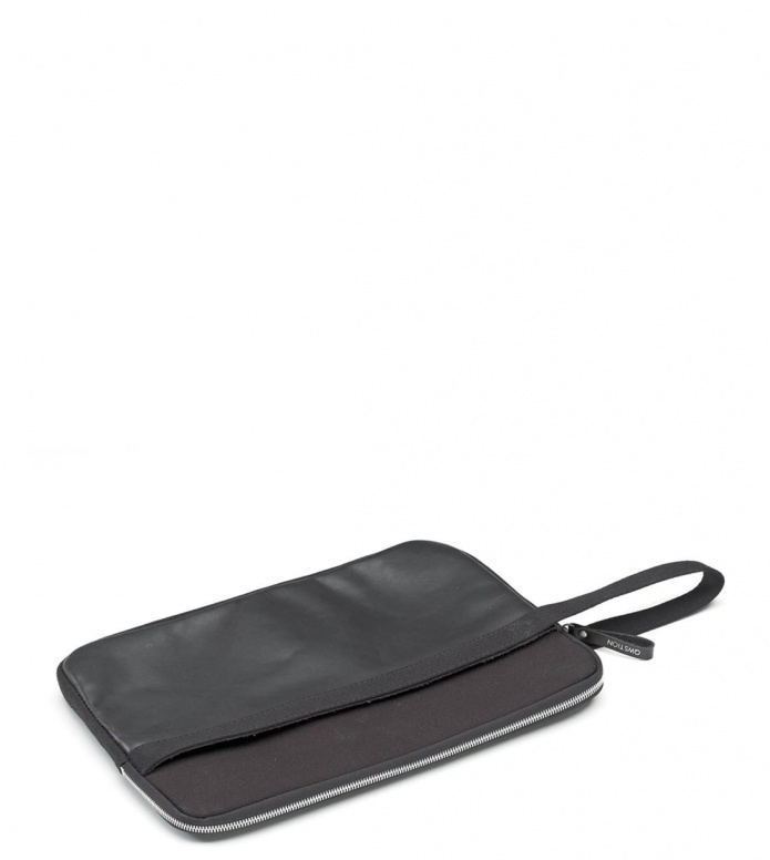 Qwstion Laptop Sleeve 13-Zoll black leather canvas one size