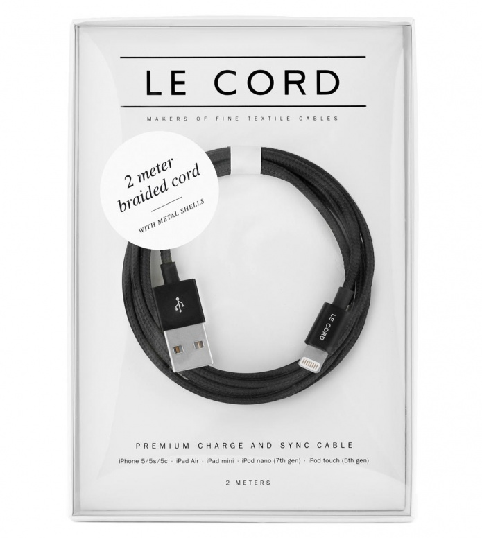 Le Cord Le Cord Charge & Sync Cable black