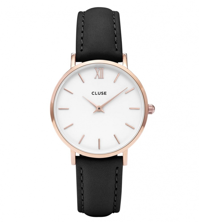 Cluse Cluse Watch Minuit black/white rose gold