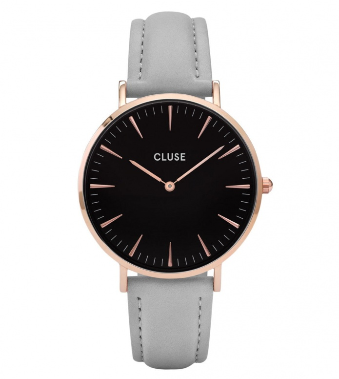 Cluse Cluse Watch La Boheme grey/black rose gold