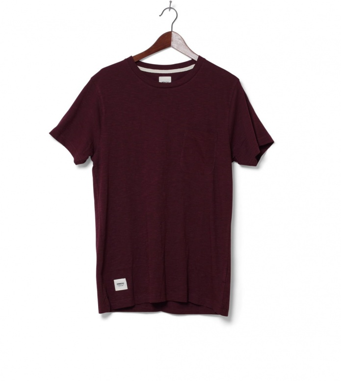 Wemoto T-Shirt Sidney red burgundy