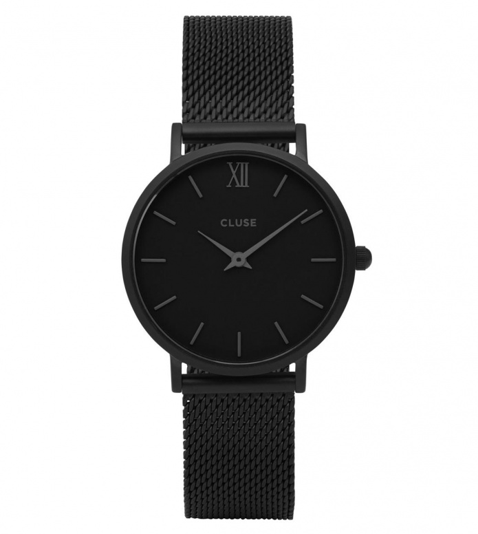 Cluse Cluse Watch Minuit Mesh black full