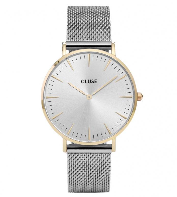 Cluse Cluse Watch La Boheme Mesh silver/silver gold
