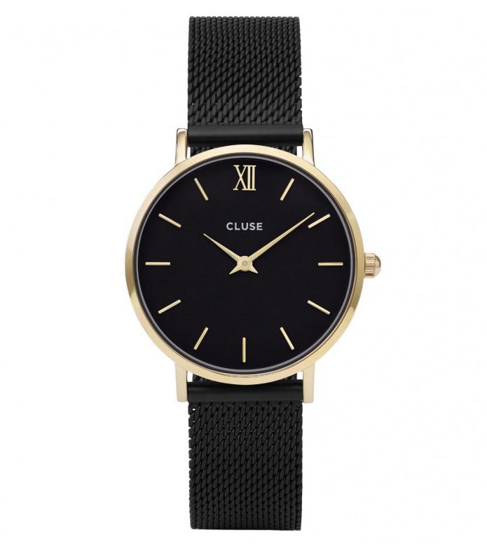 Cluse Cluse Watch Minuit Mesh black/black gold