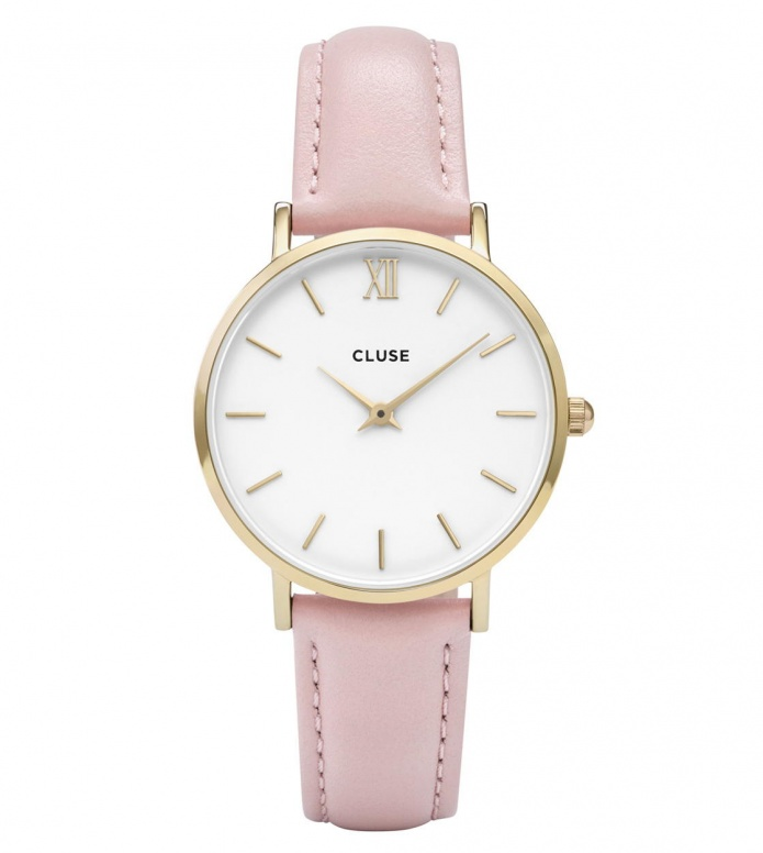 Cluse Cluse Watch Minuit pink/white gold