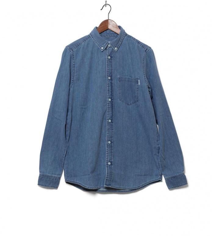 Carhartt WIP Shirt Civil blue stone washed M