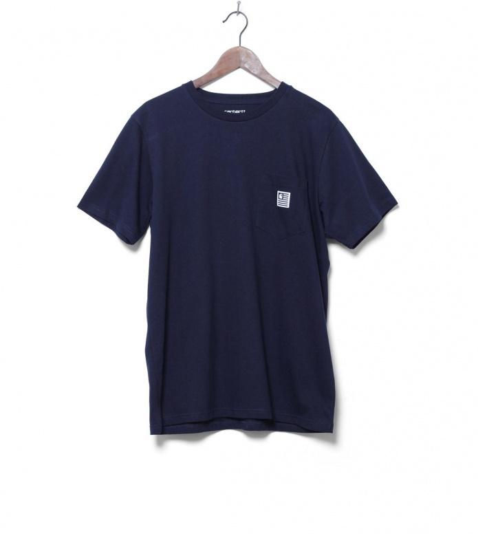 Carhartt WIP T-Shirt State Pocket blue navy