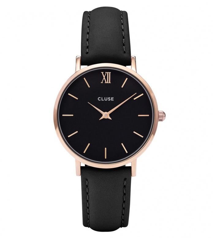Cluse Cluse Watch Minuit black/black rose gold