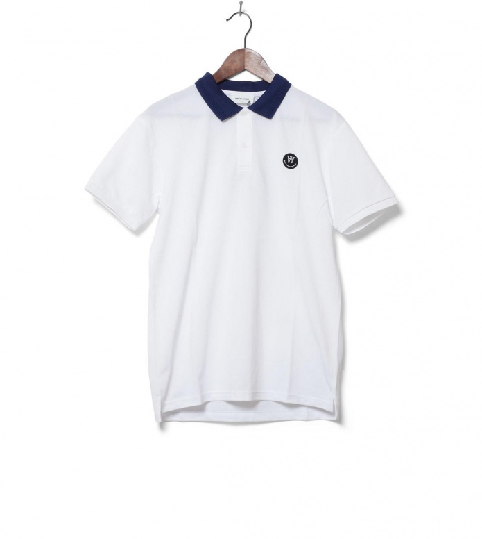 Wood Wood T-Shirt Polo Brian white S