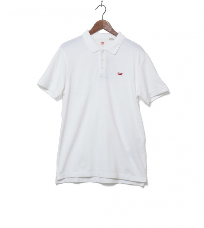 Levis Polo Housemark white bright S