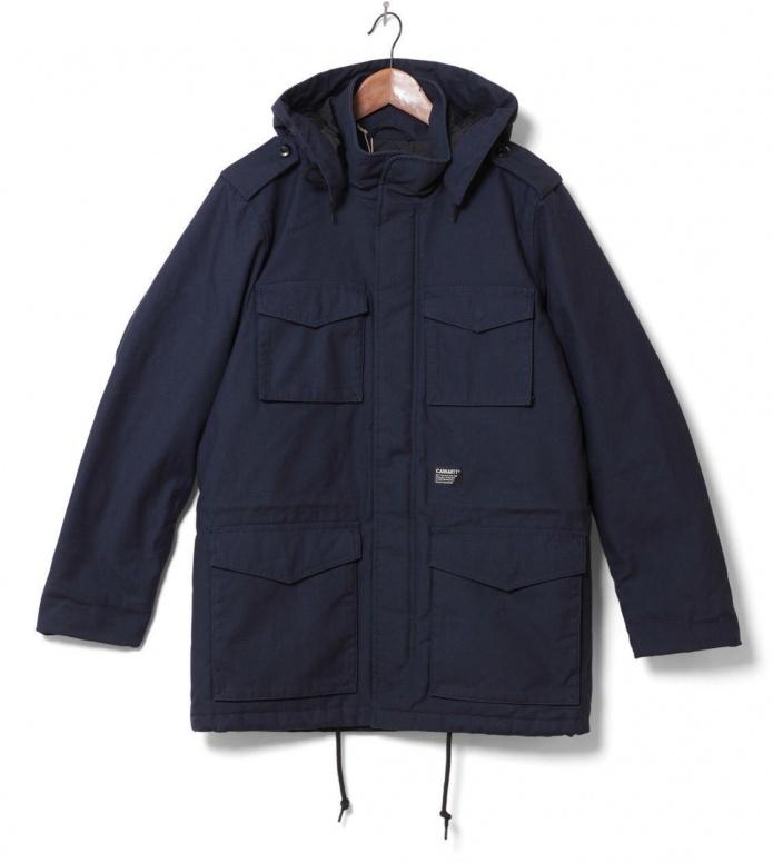 Carhartt WIP Winterjacket Hickman Coat blue navy S