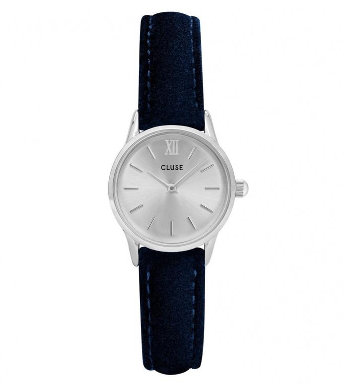 Cluse Cluse Watch La Vedette blue velvet/silver