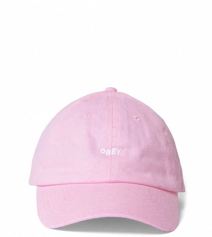 Obey 6 Panel Jumble pink one size