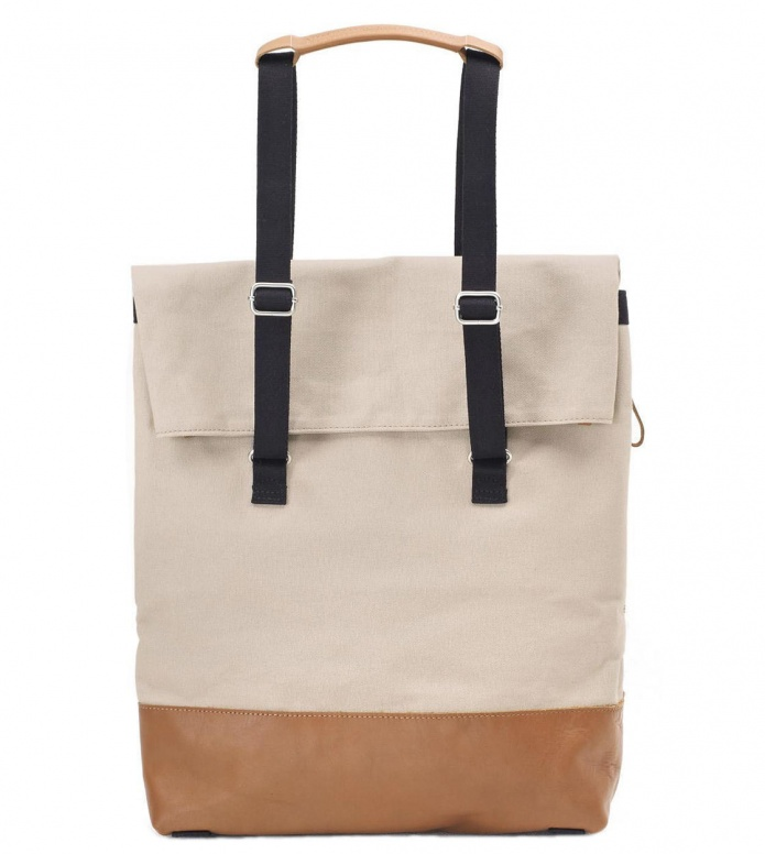 Qwstion Qwstion Bag Day Tote brown leather canvas