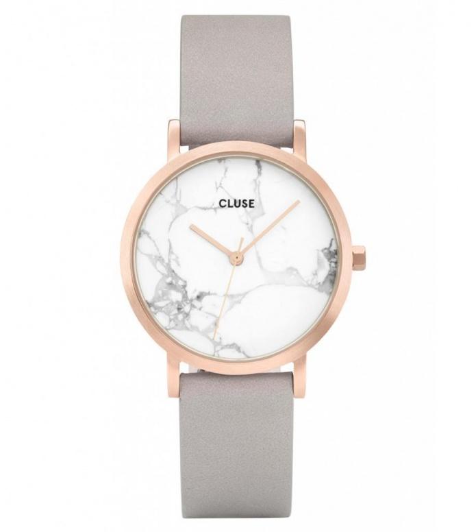 Cluse Cluse Watch La Roche Petite grey/white marble rosegold
