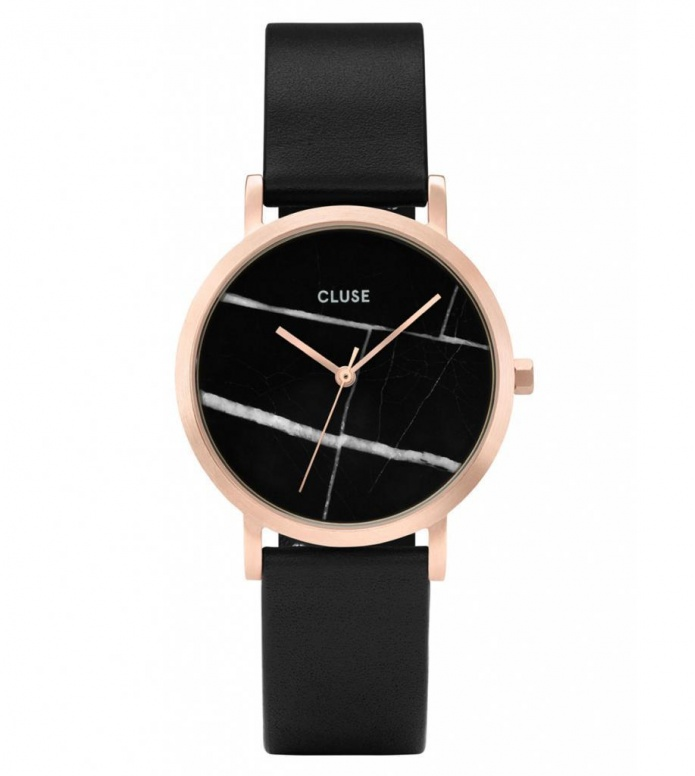 Cluse Cluse Watch La Roche Petite black/black marble rosegold