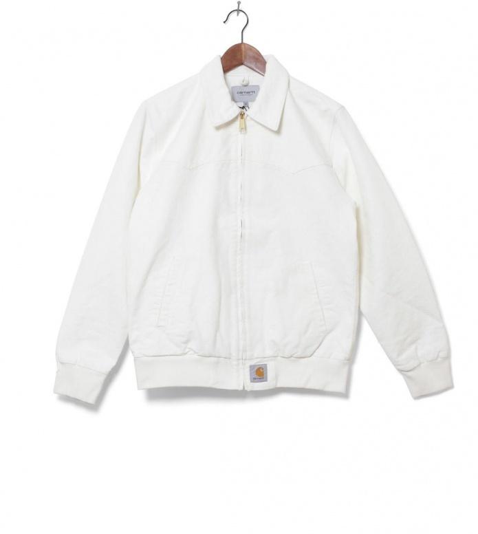 Carhartt WIP Jacket Santa Fe white wax rinsed M