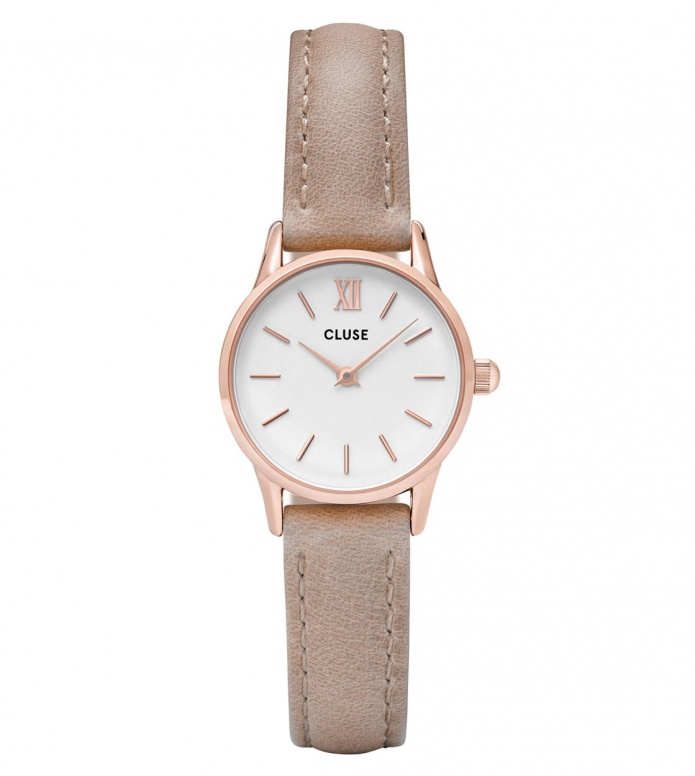 Cluse Cluse Watch La Vedette brown hazelnut/white rose gold