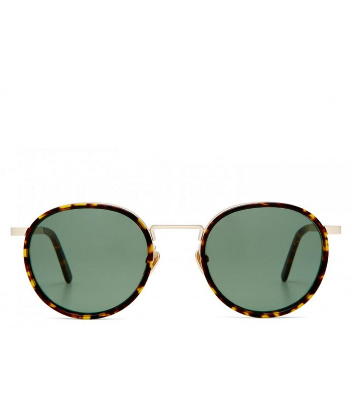 Viu Viu Sunglasses Voyager Ti/Ac star gold/dunkles havanna grŸn