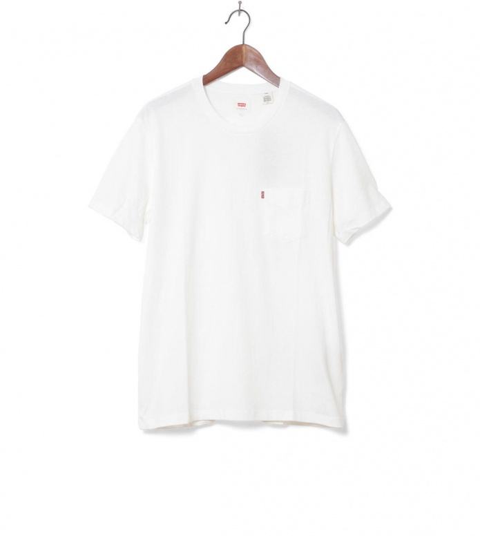 Levis Levis T-Shirt Setin Sunset Pocket beige white smoke