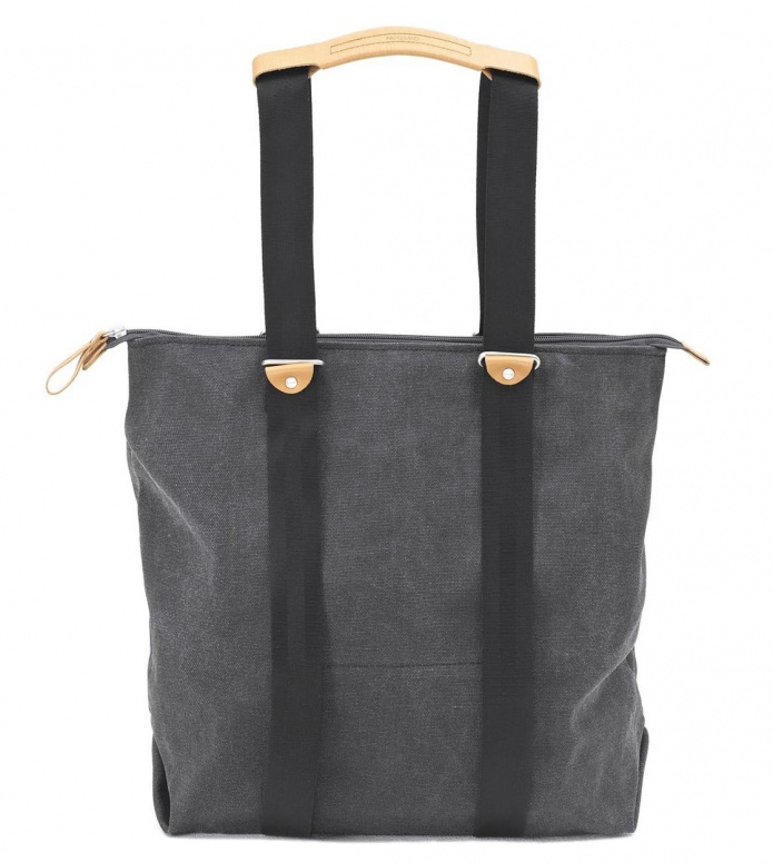 Qwstion Qwstion Bag Simple Zipshopper washed black