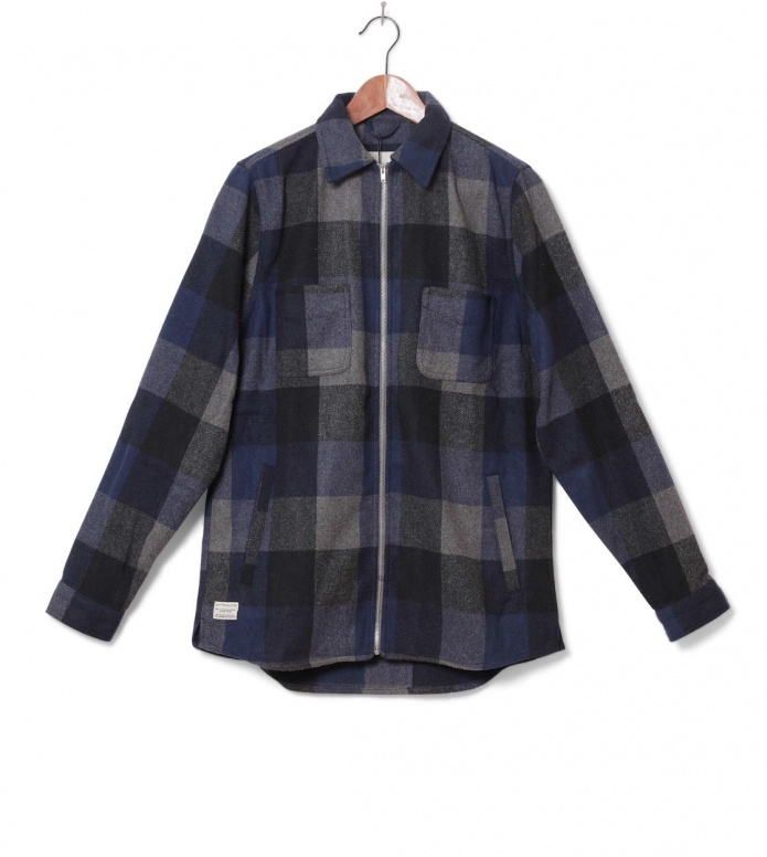 Revolution Jacket Shirt Check blue S