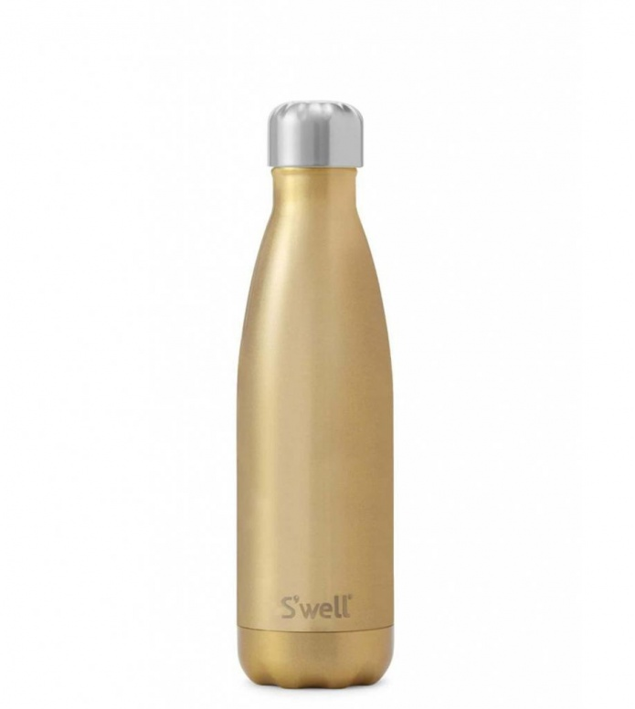 Swell Swell Water Bottle MD gold glitter spakling champagner