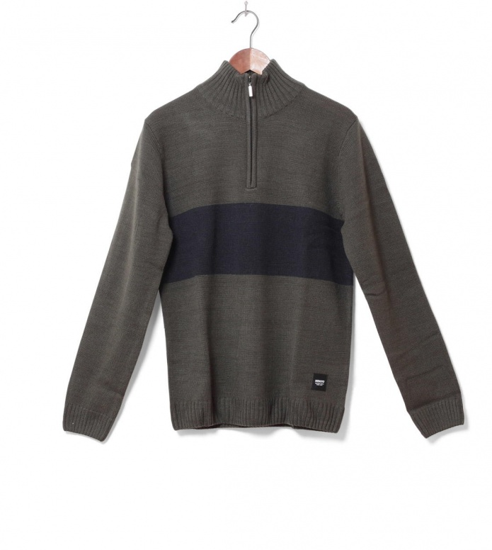 Wemoto Knit Pullover Clap green olive