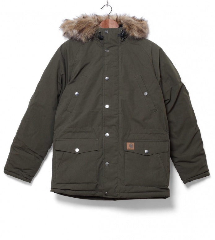 Carhartt WIP Winterjacket Trapper Parka green cypress/black L