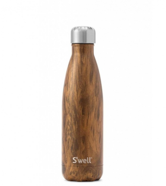 Swell Swell Water Bottle MD brown teakwood