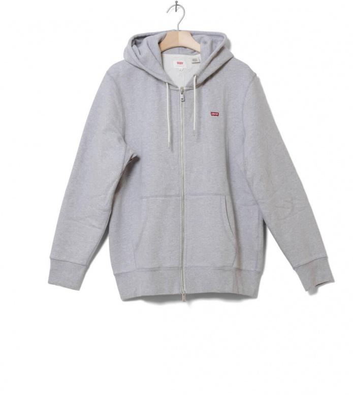 Levis Zip Hooded Original grey heather L