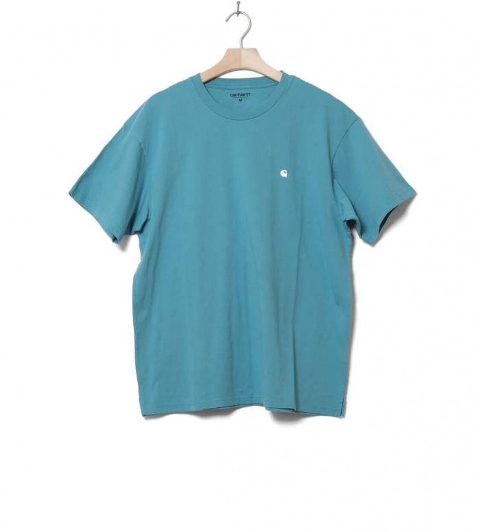 Carhartt WIP T-Shirt Madison green soft teal/white M